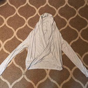 Wrap Hooded Sweatshirt